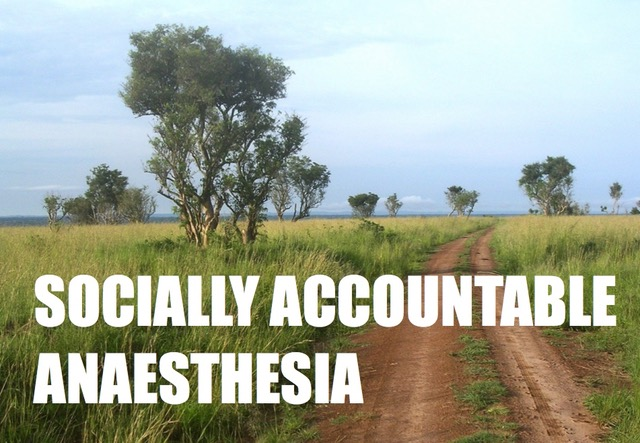 Socially accountable anaesthesia
