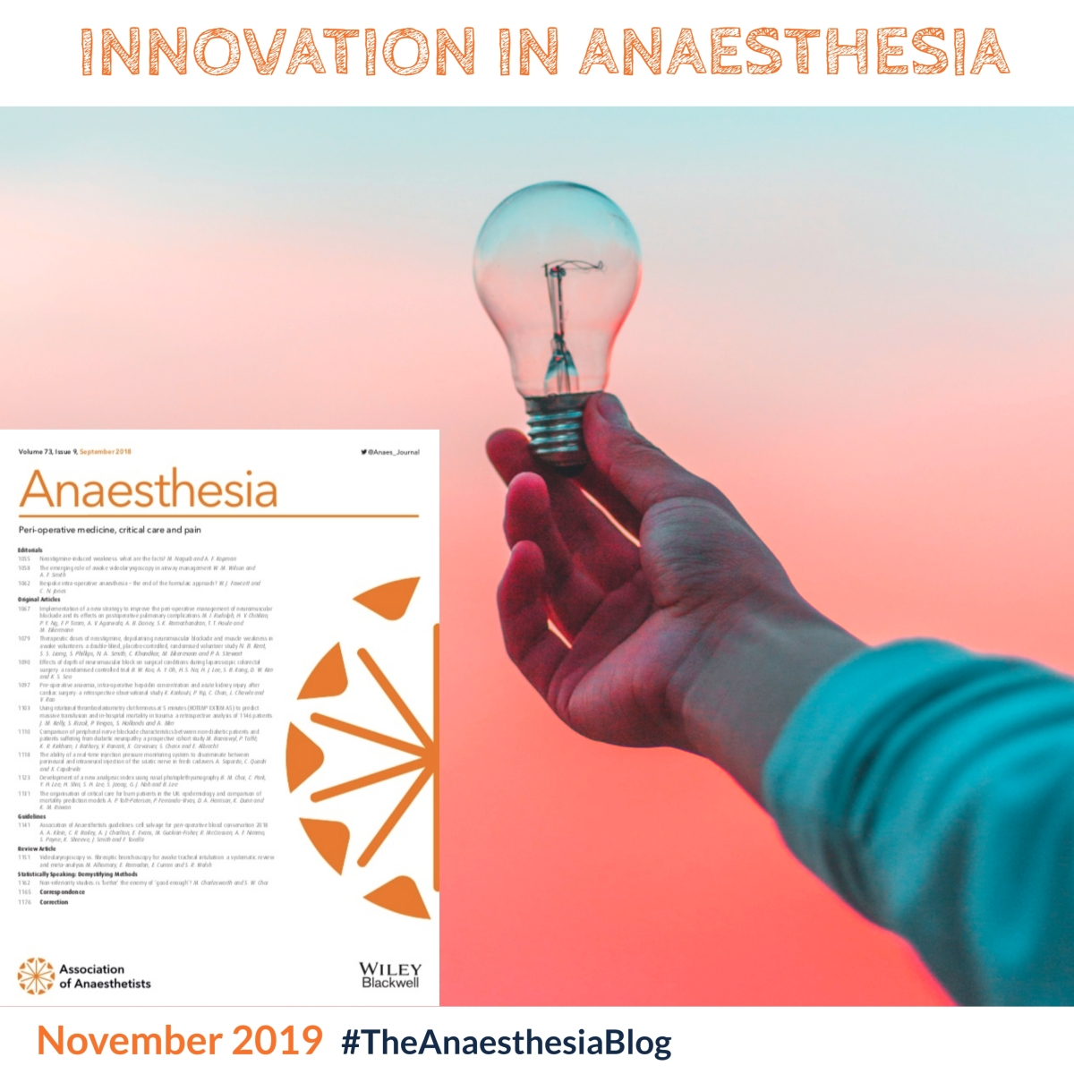 Innovation in anaesthesia
