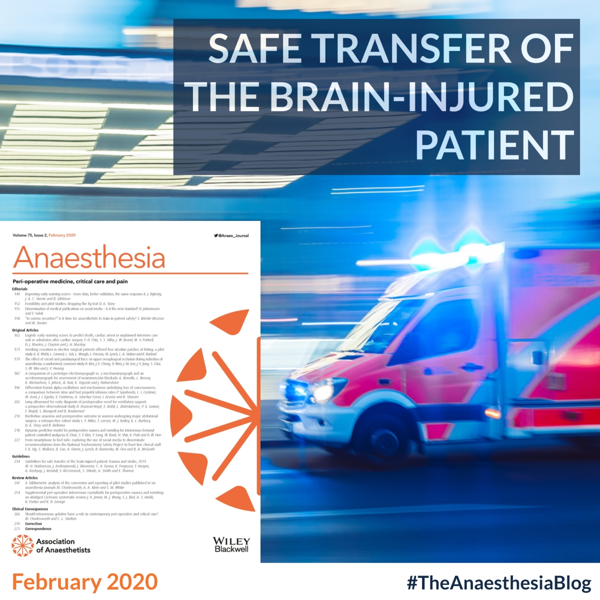 Safe transfer of the brain-injured patient