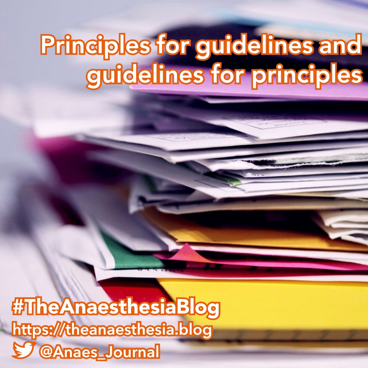 Principles for guidelines and guidelines for principles