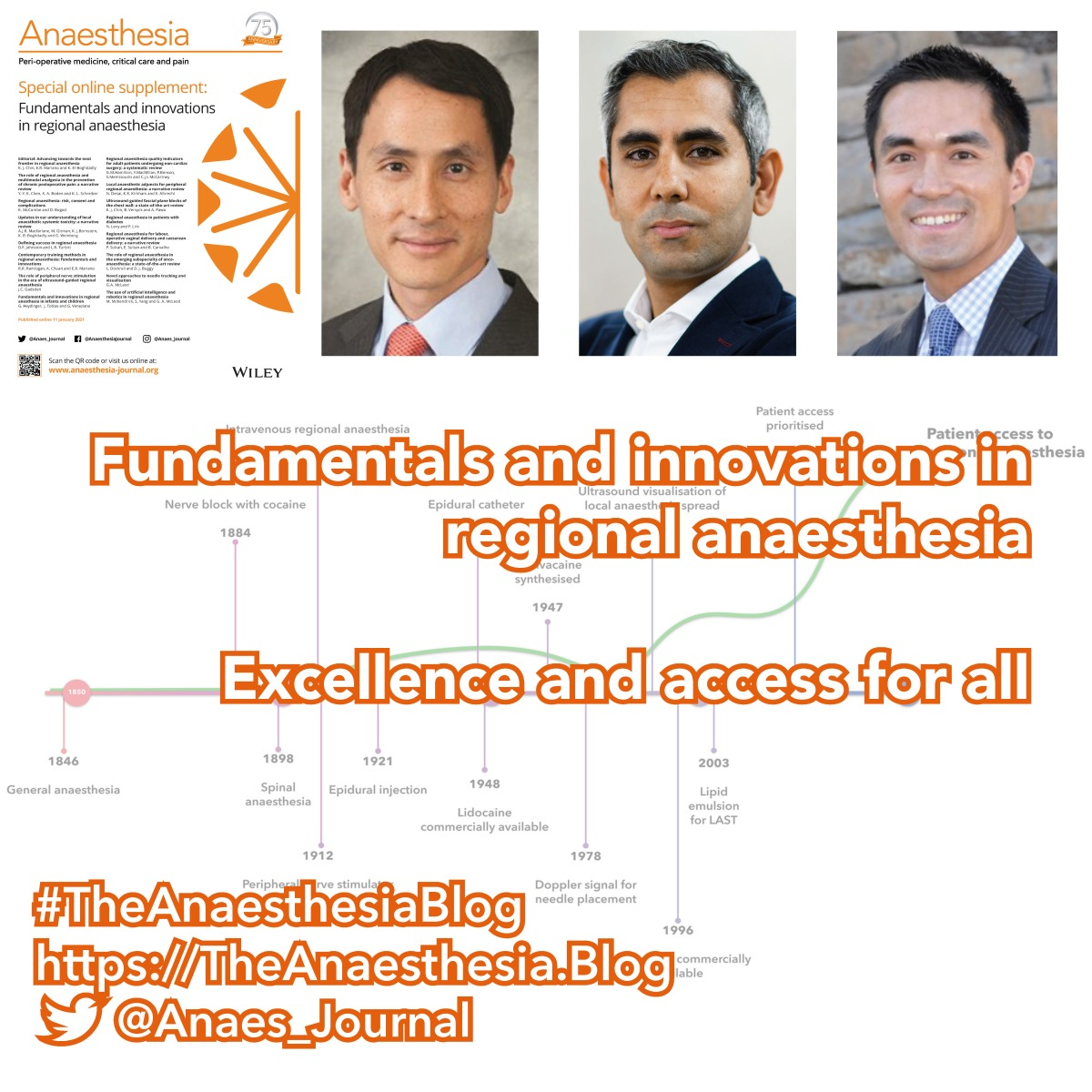 Fundamentals and innovations in regional anaesthesia: excellence and access forall